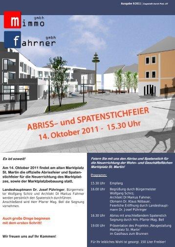 Newsletter 9/2011 – Abriss- und Spatenstichfeier St ... - Fahrner GmbH