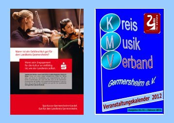 Veranstaltungskalender 2012 - Kreismusikverband Germersheim eV
