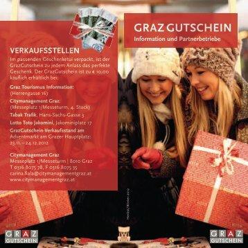 """""""Wir akzeptieren den GrazGutschein ... - Graz Tourismus"""