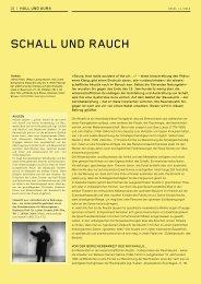 SChall und rauCh - Schweizerische Gesellschaft für Akustik