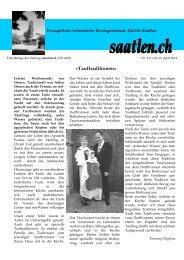 Nr. 4.2 - Evangelisch-reformierte Kirchgemeinde Saatlen