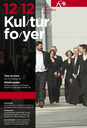 Kulturfoyer 12/2012 - Freie Volksbühne Berlin