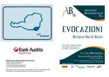 Evocazioni - Akademische Bläserphilharmonie Wien