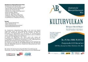 Akademische Bläserphilharmonie Wien Musikalischer Leiter David ...