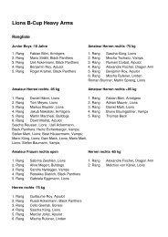 Rangliste (PDF) - ASC Lions