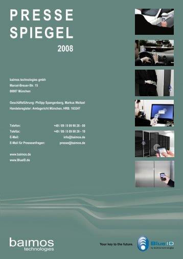 Press Review 2008 - baimos technologies GmbH