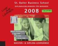 SGBS Alumni-Club - St. Galler Business School
