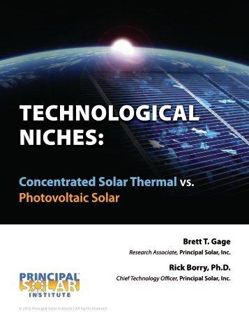 technological niches - Principal Solar Institute