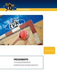 PressemaPPe - TV Korschenbroich Handball