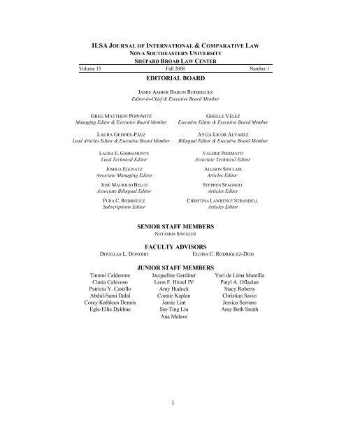 Volume 15 1 Nova Southeastern University Law Center Dissertation Template
