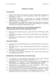 Schriftenverzeichnis - Fachbereich Rechtswissenschaft der ...