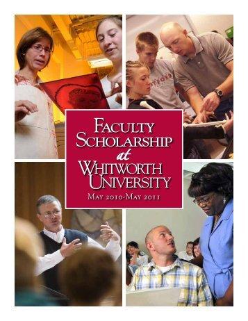Faculty Scholarship Faculty Scholarship - Whitworth University