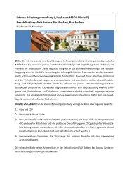 interne Belastungserprobung Bad Buchau - Arbeits- und ...