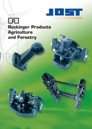 Rockinger Products Agriculture and Forestry - Jost-Werke GmbH