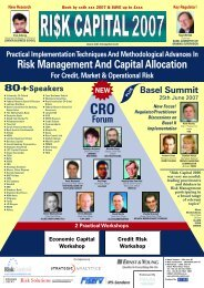 Risk Management And Capital Allocation - Strategic Analytics