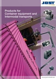 Products for Container equipment and ... - Jost-Werke GmbH