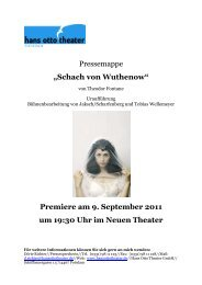 """Pressemappe """"Schach von Wuthenow ... - Hans Otto Theater"""