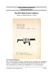 Die RAF (Rote Armee Fraktion) - Idsteiner Mittwochsgesellschaft