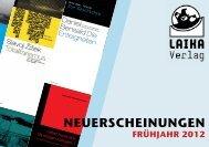 Verlagsprogramm Frühjahr 2012 - Laika Verlag