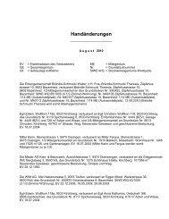 Handänderungen - Gemeinde Kirchberg