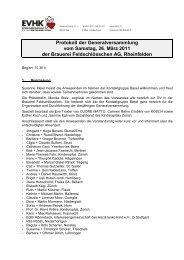 Protokoll der Generalversammlung vom Samstag, 26. März 2011 ...