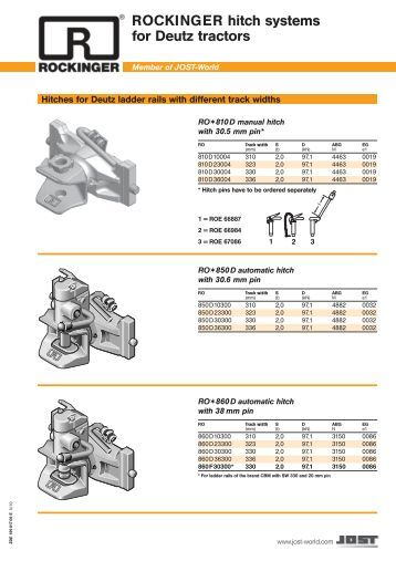 Tractor Tow Check List : Service checklist for rockinger towing hitch jost werke gmbh