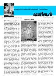 Nr. 4.1 - Evangelisch-reformierte Kirchgemeinde Saatlen