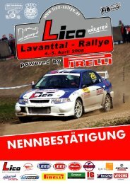Nennbestätigung deutsch - BP Ultimate Rallye
