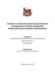 Gutachten zur landesweiten Bewertung des hessischen