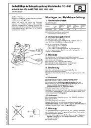 Montage- und Betriebsanleitung