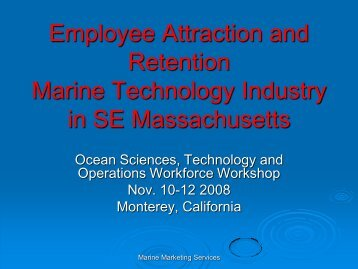 Marine Technology Industry - Faculty