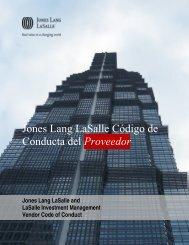 Código de Conducta de Proveedores - Jones Lang LaSalle