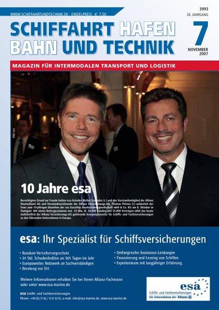 10 Jahre esa - Schiffahrt und Technik