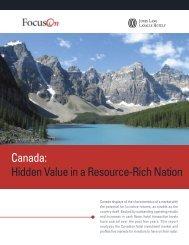 Canada: Hidden Value in a Resource-Rich Nation - Jones Lang ...