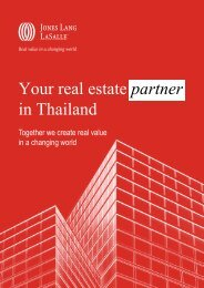 Your real estate partner in Thailand - Jones Lang LaSalle