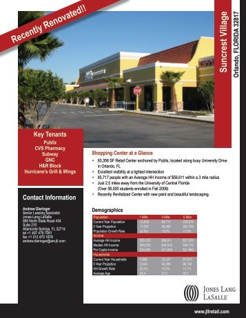 Suncrest Village Recently Renovated!! - Jones Lang LaSalle
