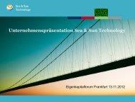 Sea & Sun Technology GmbH - Deutsches Eigenkapitalforum