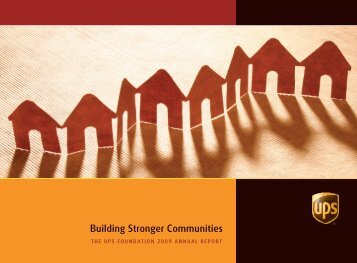 Building Stronger Communities - UPS.com