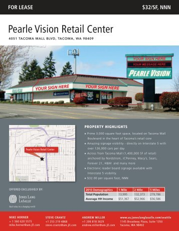 Pearle Vision Retail Center - Jones Lang LaSalle