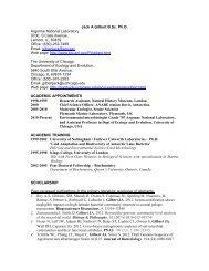 Jack A Gilbert B.Sc. Ph.D. Argonne National Laboratory 9700, S ...