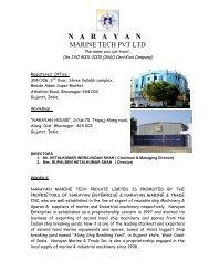 narayan marine tech pvt ltd - ShipServ