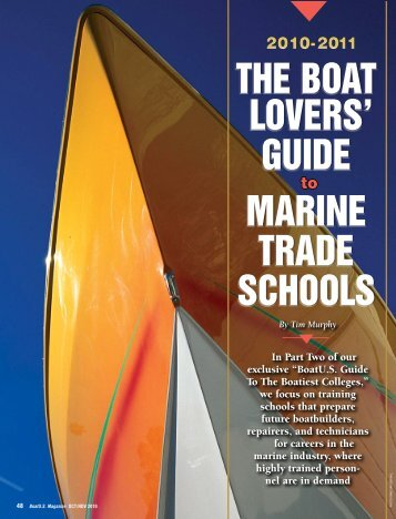 THE BOAT LOVERS' GUIDE MARINE TRADE SCHOOLS - BoatUS