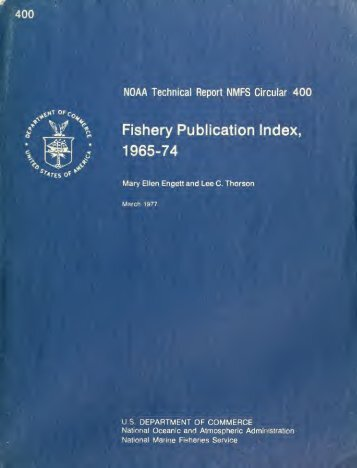 Fishery circular - NMFS Scientific Publications Office - NOAA