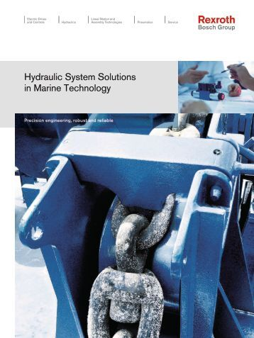 Hydraulic System Solutions in Marine Technology - Bosch Rexroth