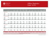 Portland Office Statistics - Q2  2012 - Jones Lang LaSalle