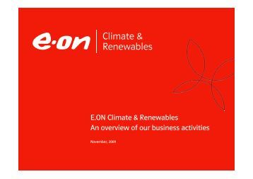 eon climate renewables an overview of our business e advanced concepts business