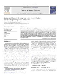 Progress in Organic Coatings Design guidelines for development of ...