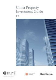 China Property Investment Guide - Jones Lang LaSalle