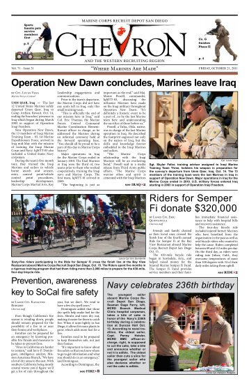 Operation New Dawn concludes, Marines leave Iraq Riders for ...