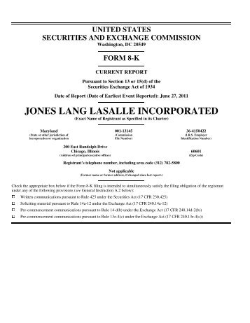 First Amendment to Multicurrency Credit Agreement - Jones Lang ...